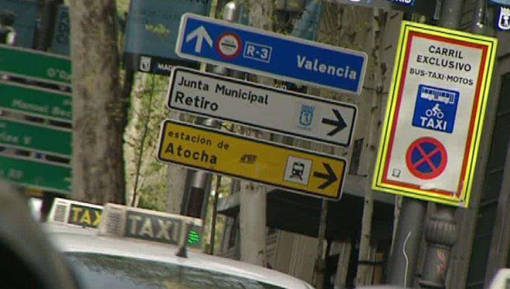 Señales informativas en Madrid