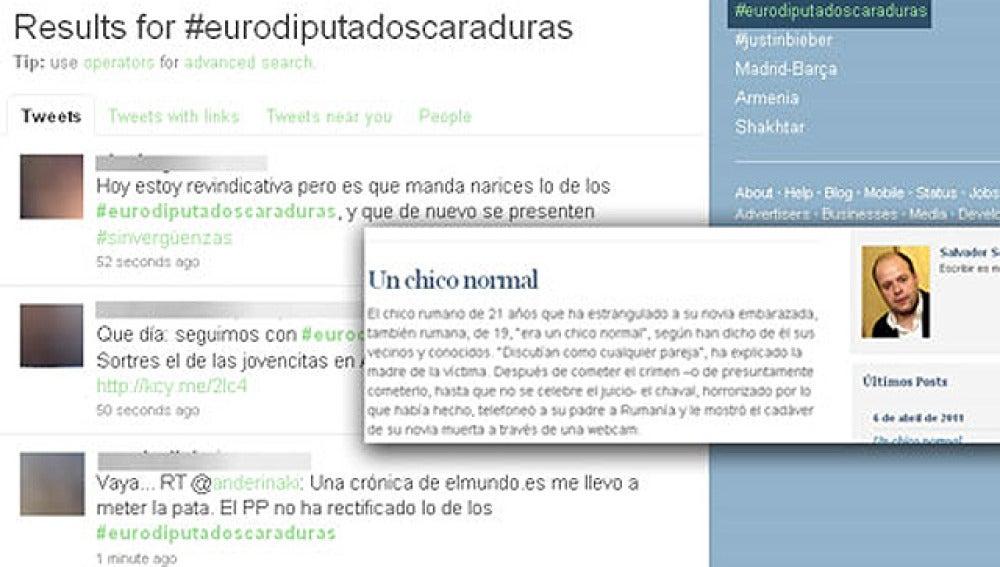 Twitter se enfada con los eurodiputados y con Salvador Sostres