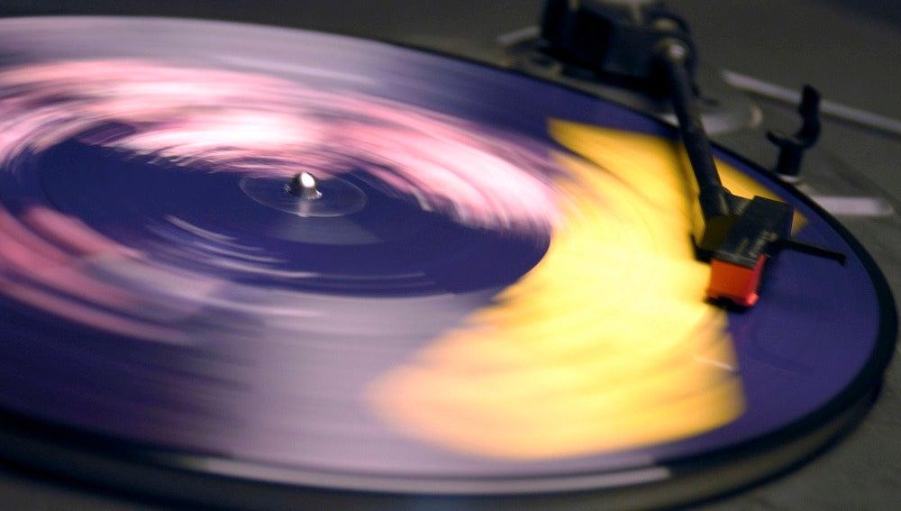 Imagen de un disco de vinilo.