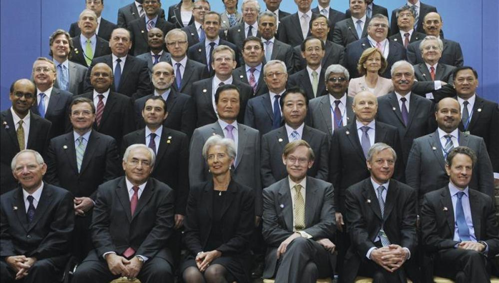 Foto de familia de la reunión del G-20