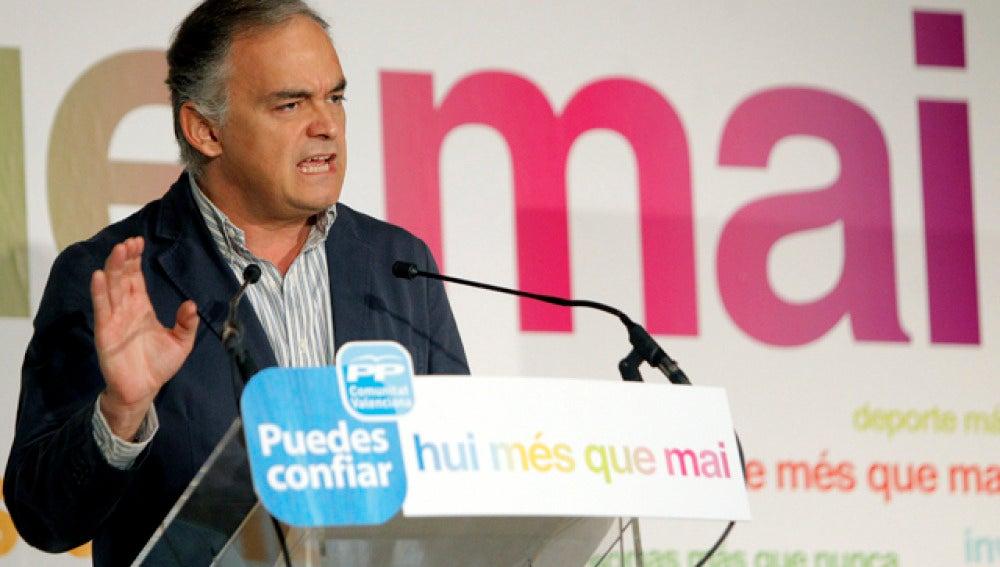 González Pons durante el acto en Valencia