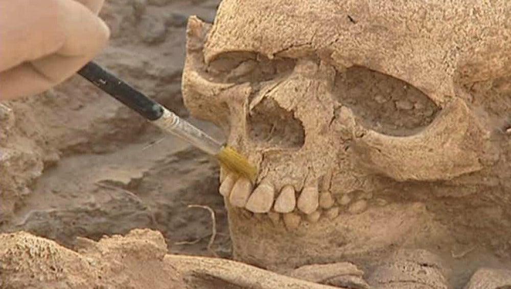 Restos de una mujer del Neolítico