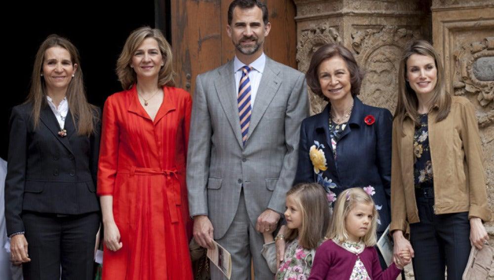 La Familia real casi al completo en Mallorca