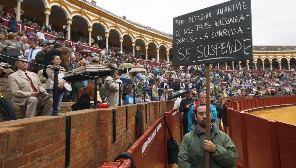 La lluvia obliga a suspender la corrida de rejones en La Maestranza
