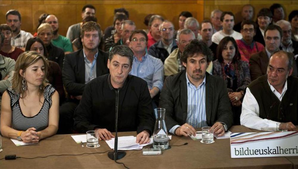El secretario general de EA y portavoz de Bildu, Pello Urizar