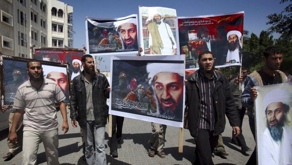 Manifestación de apoyo a Bin Laden