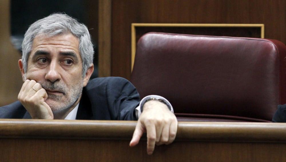 Gaspar Llamazares, en el Congreso