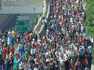 Muchedumbre en Madrid