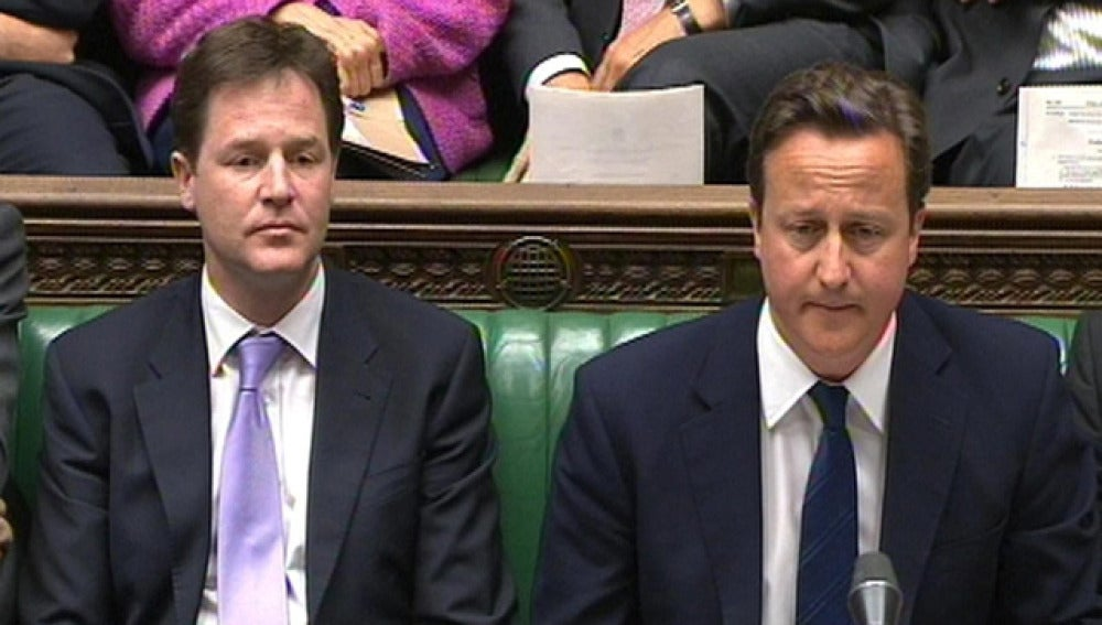 Nick Clegg y David Cameron