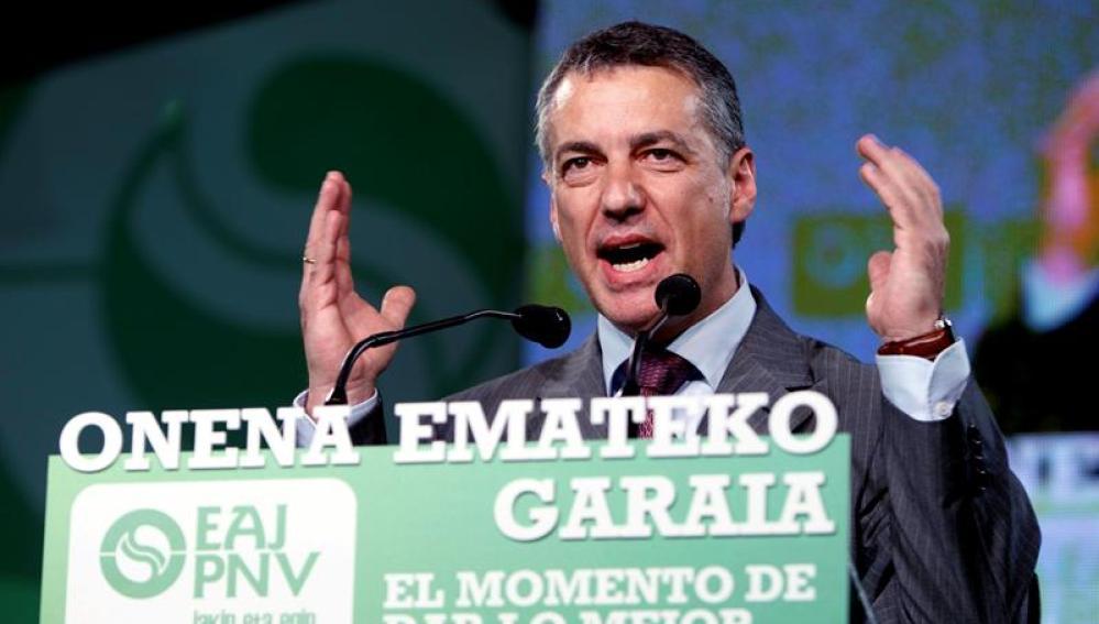 El presidente del PNV, Íñigo Urkullu