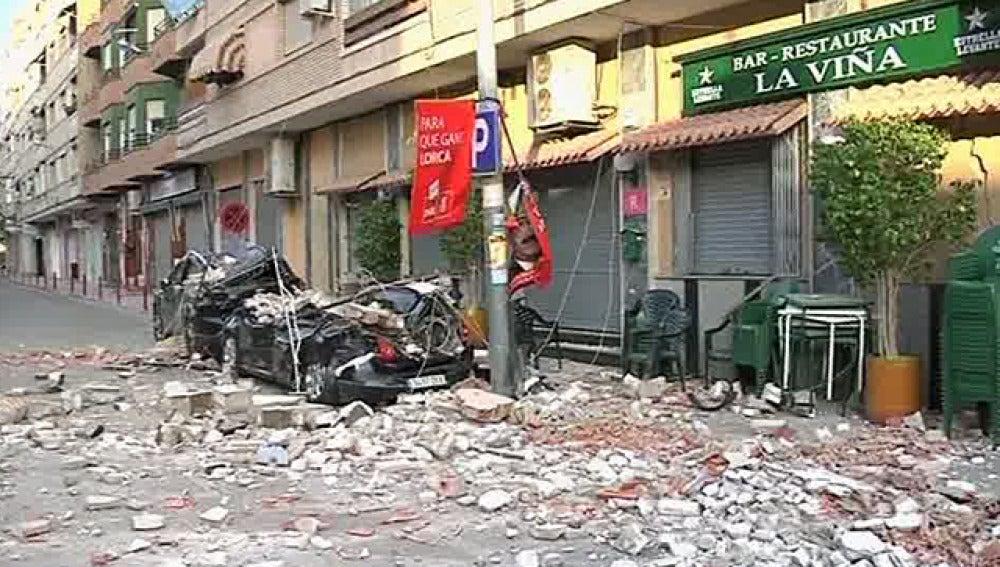 Estado en el que quedaron las calles lorquinas