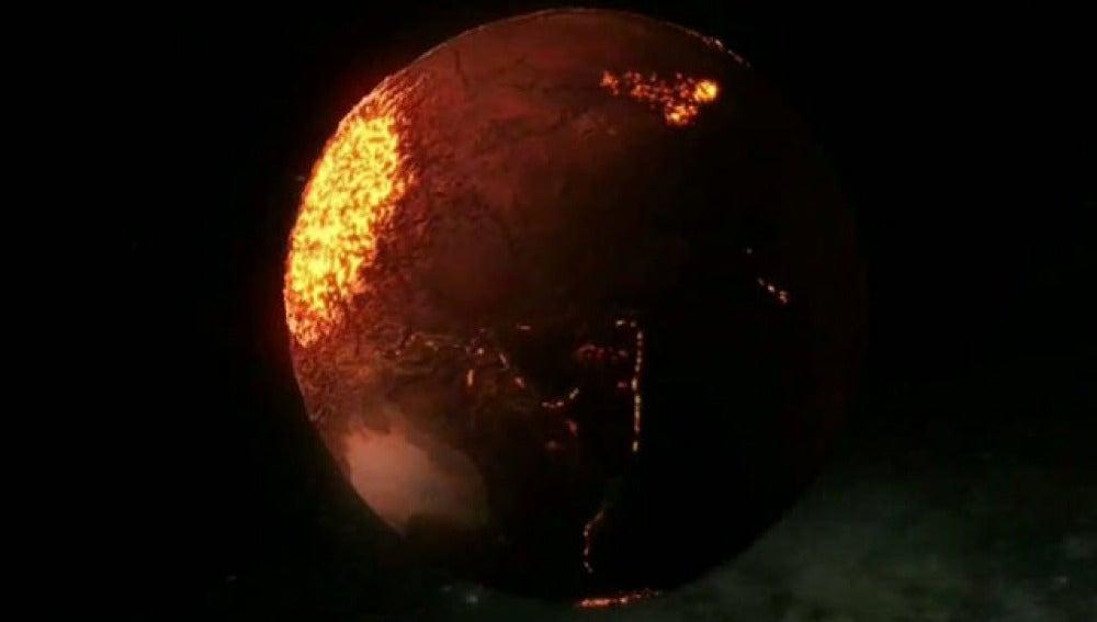 Descubren un océano subterráneo de lava bajo la luna Ío de Júpiter