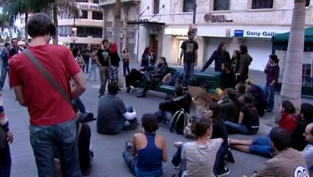 Los indignados de Canarias se movilizan