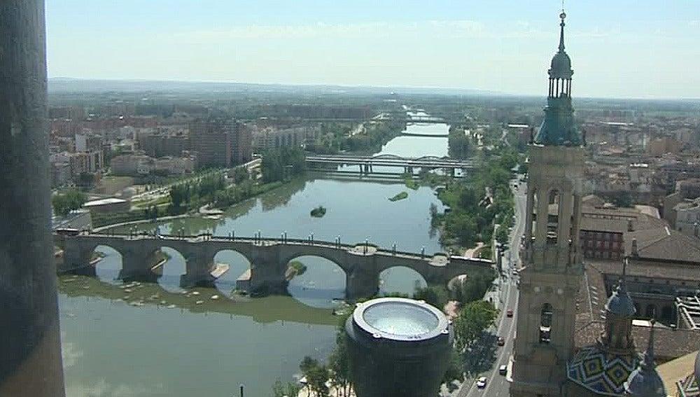 Vista de Zaragoza a 80 metros de altura