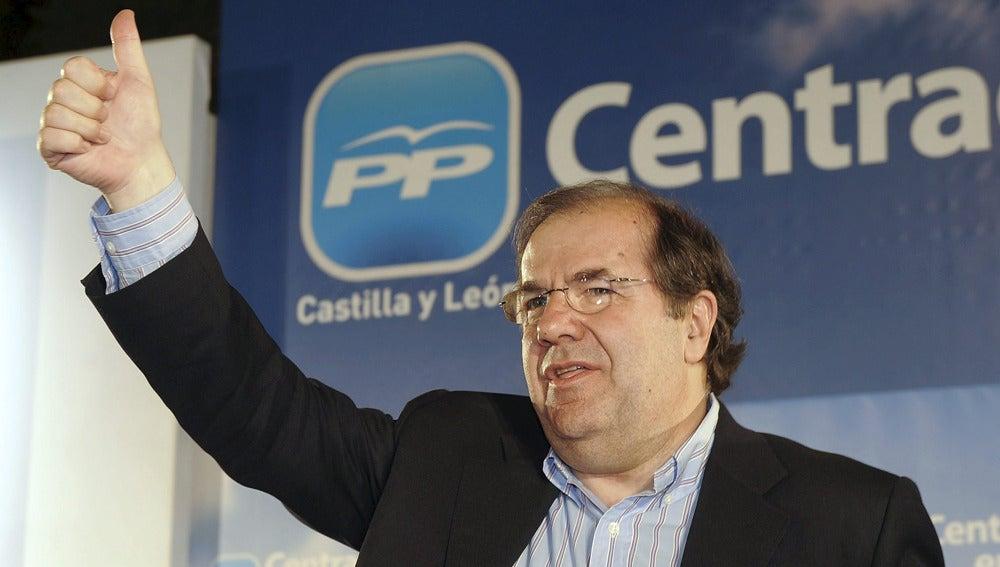 El candidato del PP a la Presidencia de la Junta de Castilla y León, Juan Vicente Herrera