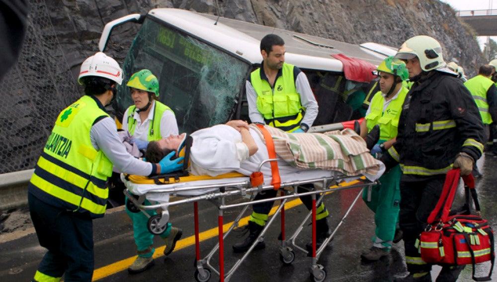 Accidente en la A-8 en Bilbao