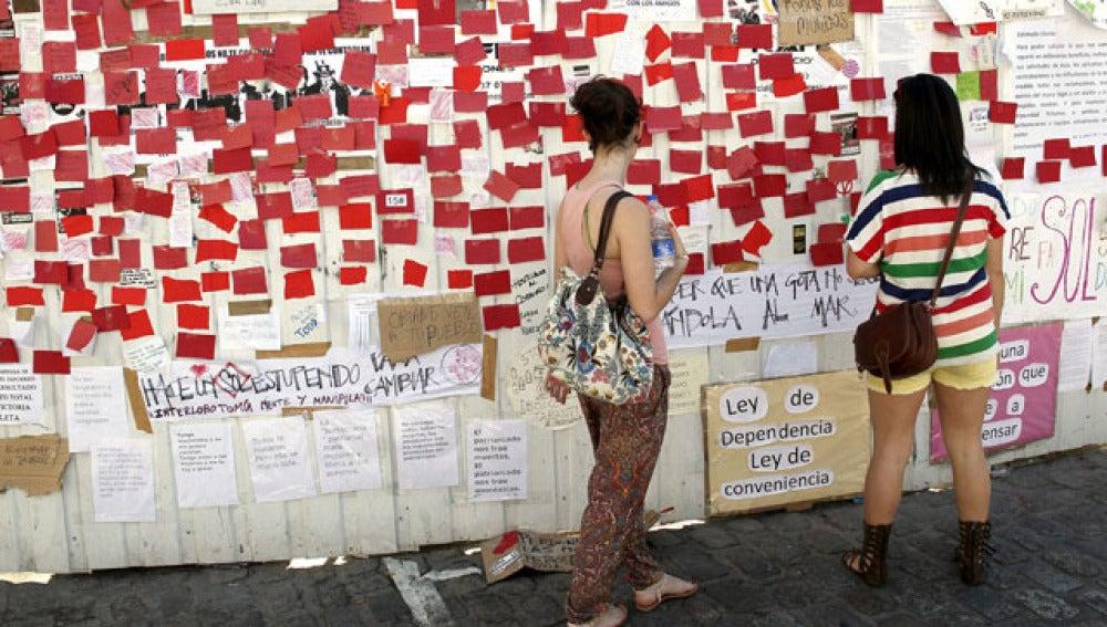 Reivindicaciones de los manifestantes en Sol