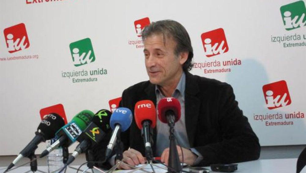 Pedro Escobar, coordinador general de Izquierda Unida en Extremadura