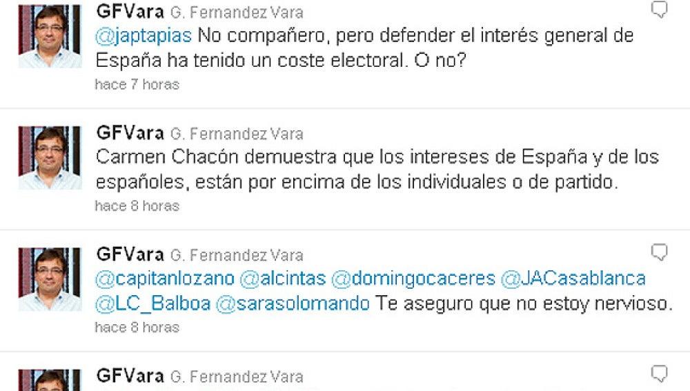 Cuenta en Twitter de Guillermo Fernández Vara