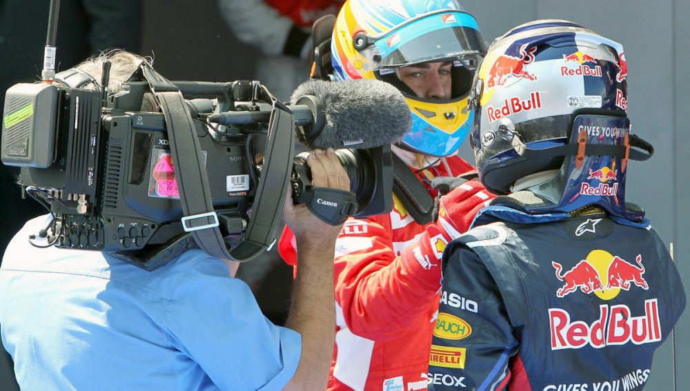 Alonso y Vettel, en el GP de Catalunya
