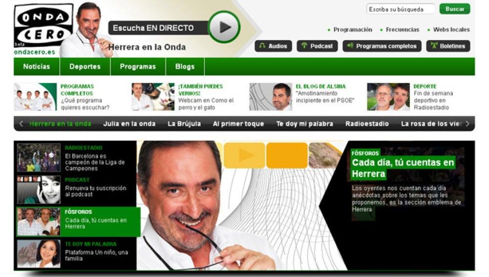 Onda Cero estrena nueva web