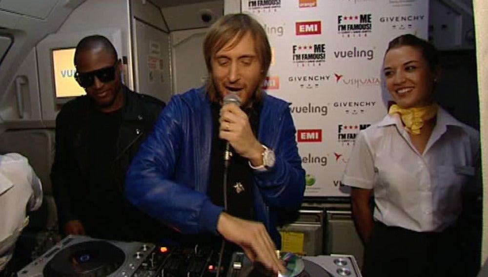 David Guetta, en el avión de Vueling
