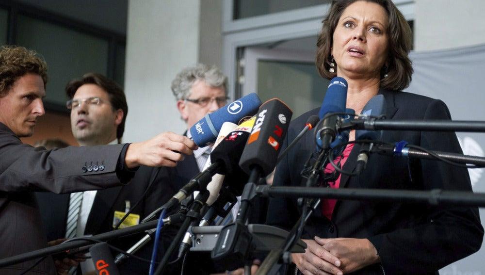 La ministra alemana de Agricultura y Defensa del Consumidor, Ilse Aigner