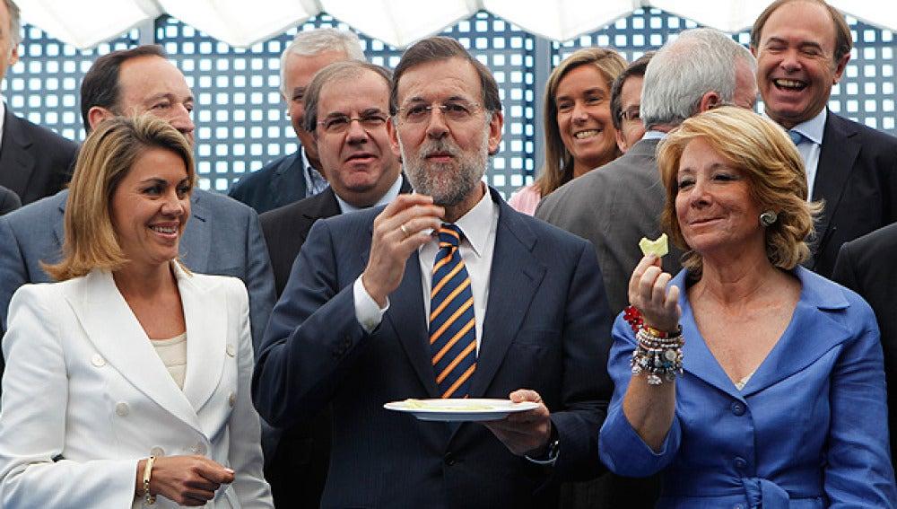 Varios líderes del PP degustan pepino