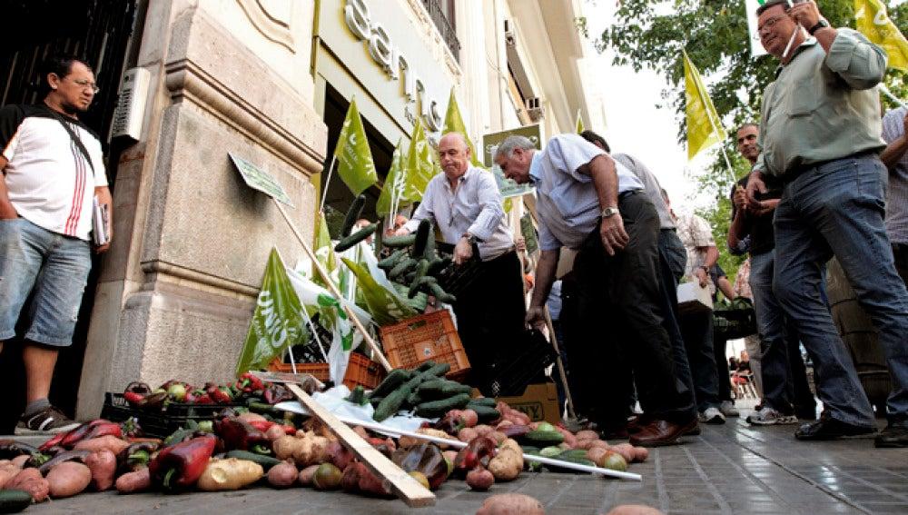 Protestas de los agricultores en Valencia