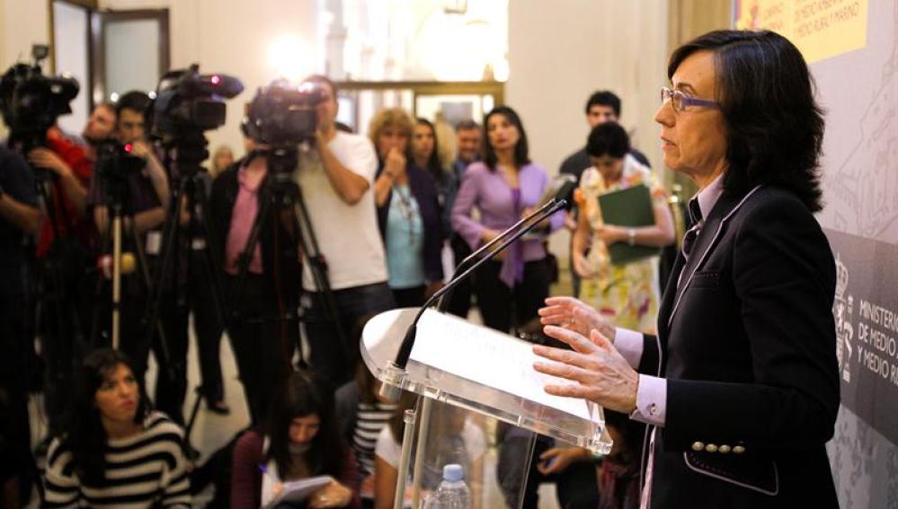 La ministra de Medio Ambiente y Medio Rural y Marino, Rosa Aguilar