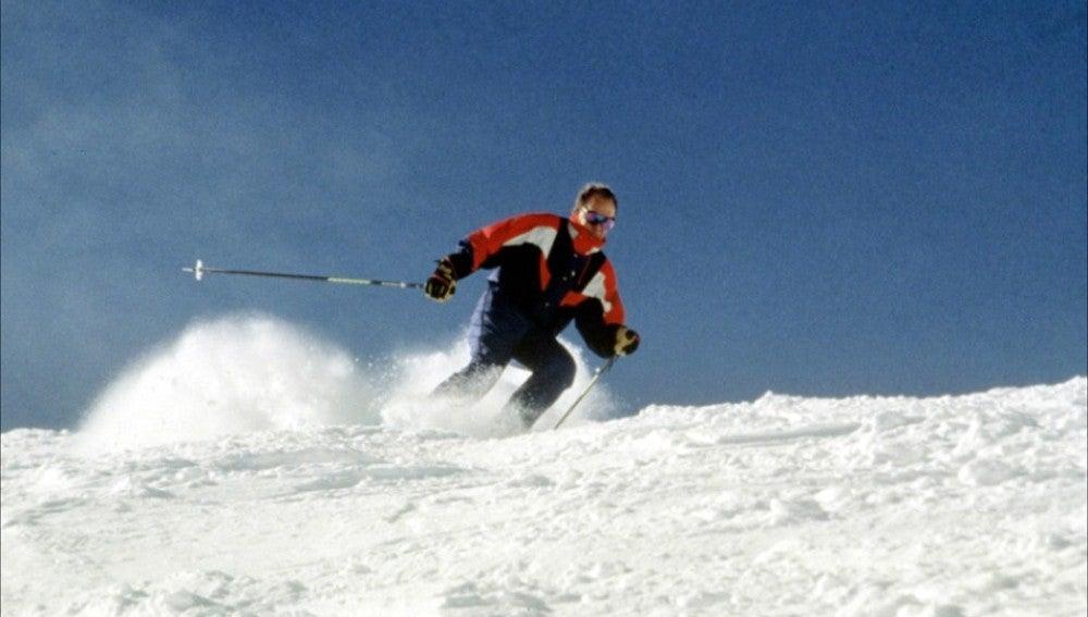 Don Juan Carlos esquiando