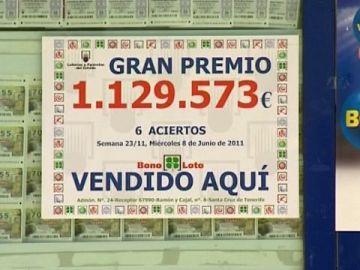La bonoloto deja más de un millón de euros en S.C.Tenerife