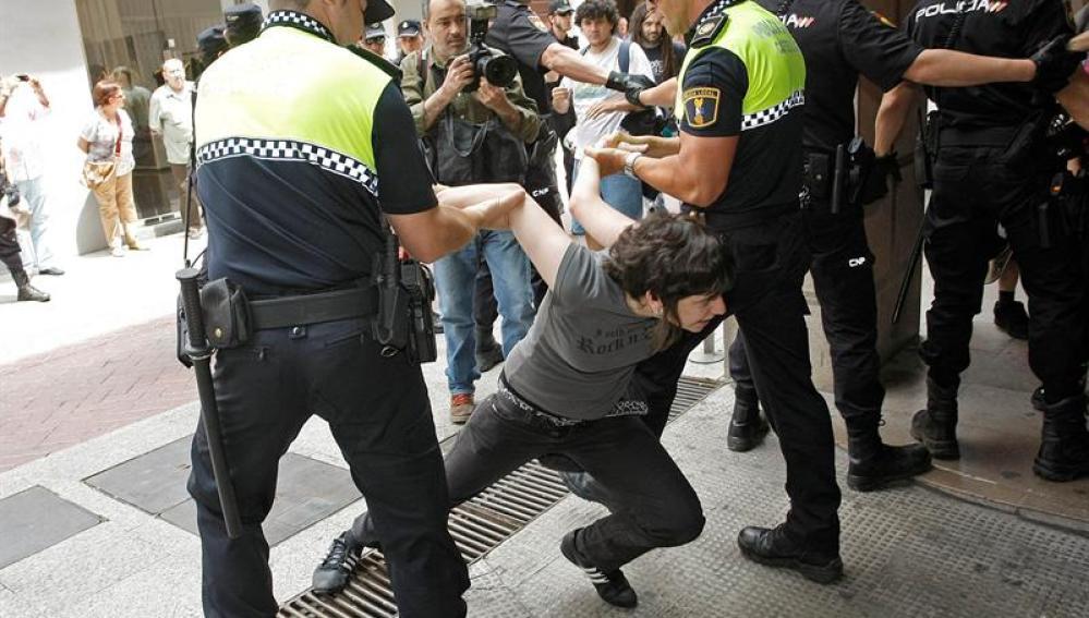 Jóvenes se manifestaron en Castellón