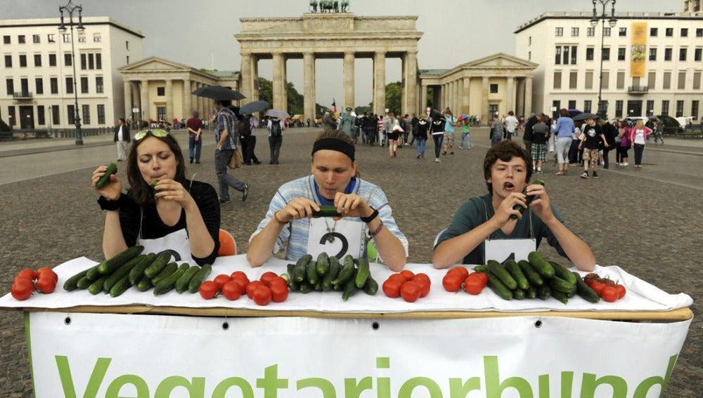 Concurso de comedores de pepinos