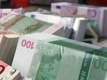 En la imagen, unos billetes de euro