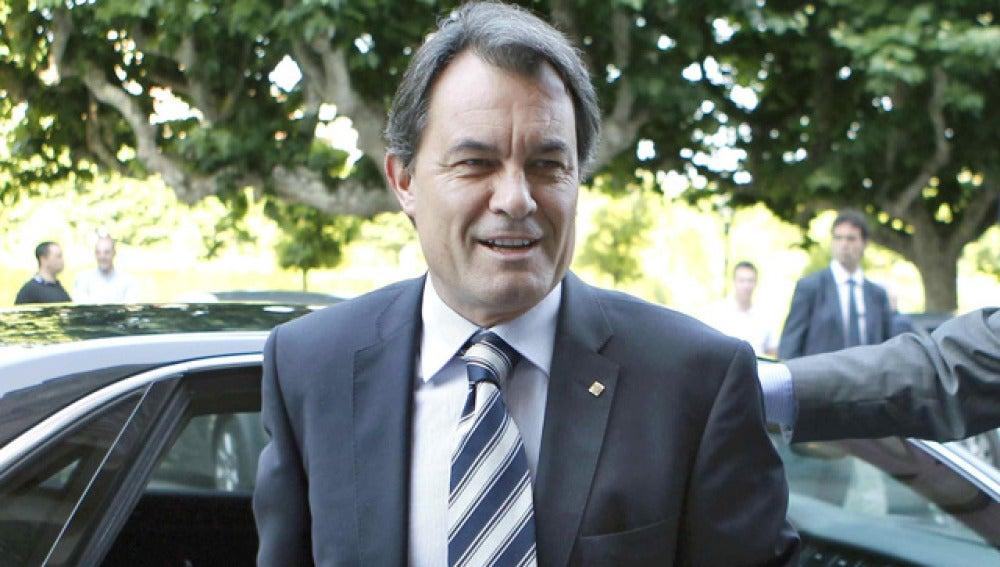 Artur Mas, a su llegada al Parlament