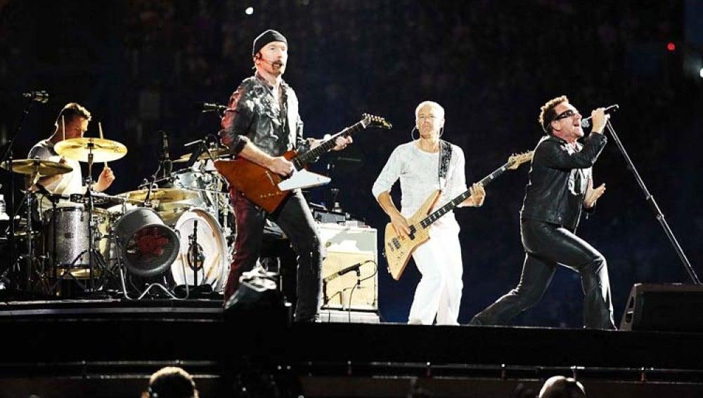 Concierto de U2 en el estadio olímpico de Roma.