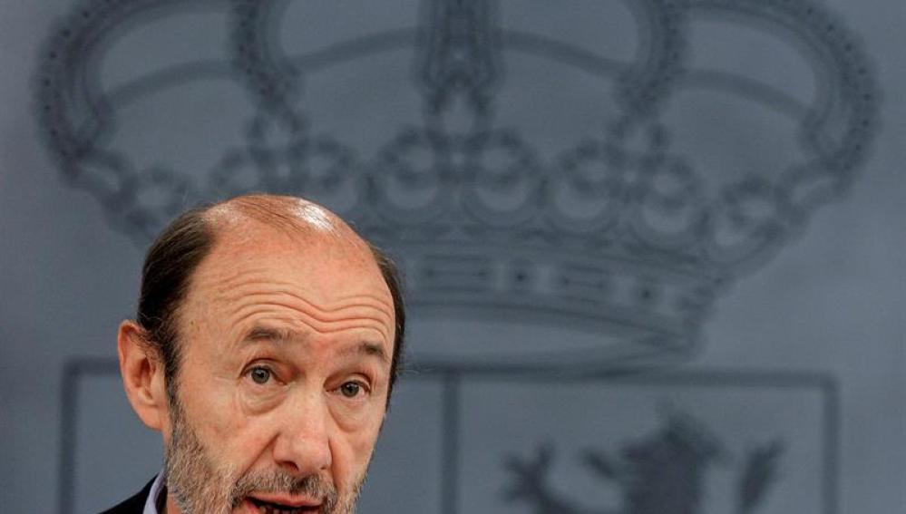 Rubalcaba, en su papel como portavoz del Gobierno