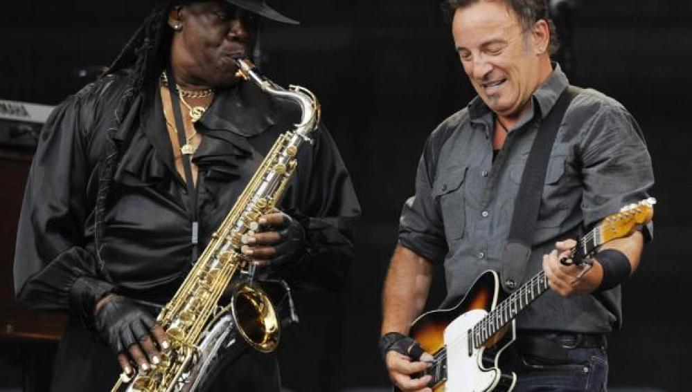 Bruce Springsteen y Clarence Clemons