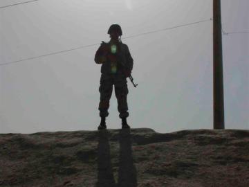 Un soldado en Afganistán