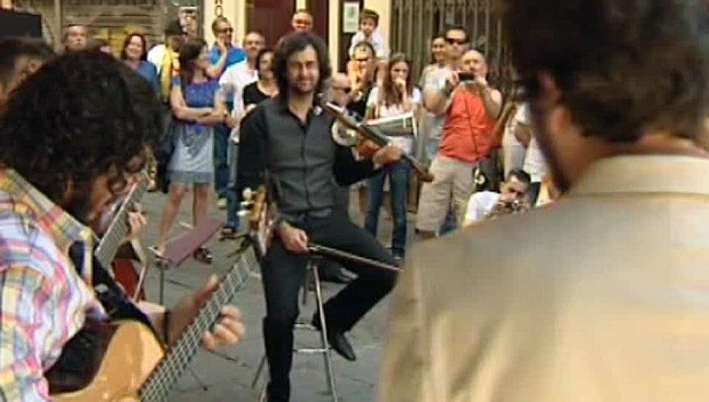 Raimundo Amador por las calles de Madrid