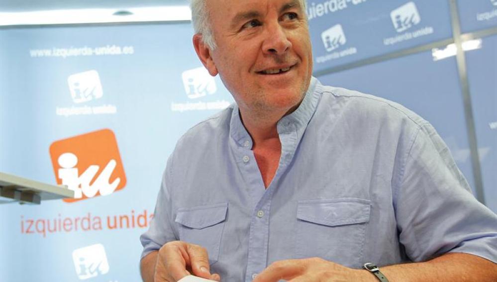 El coordinador general de IU, Cayo Lara