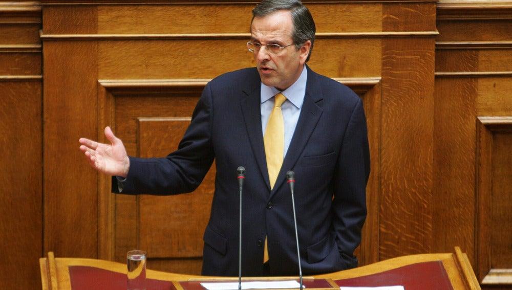 Antonis Samaras, líder de la oposición griega