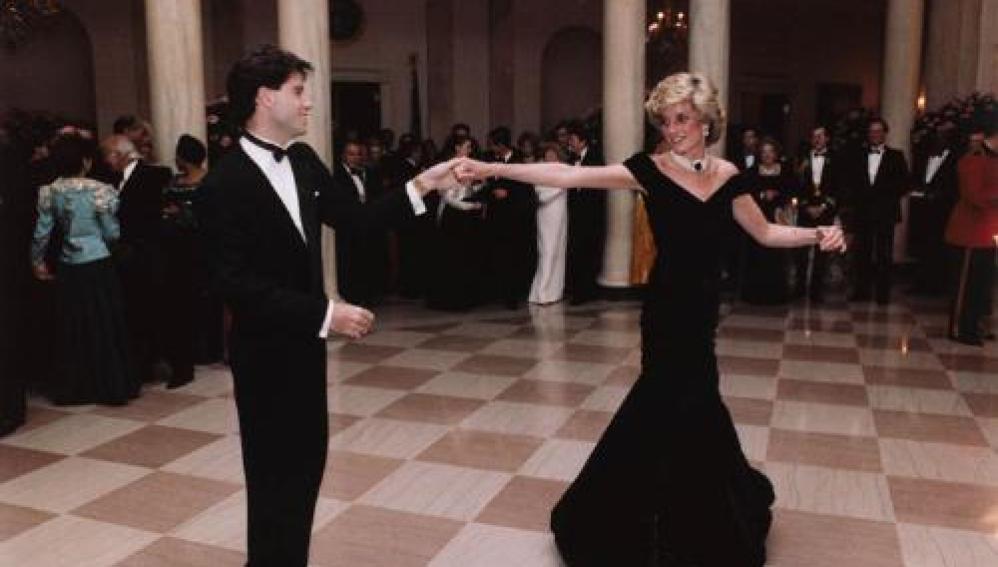 Lady Diana y John Travolta