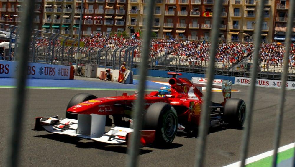 Fernando Alonso en el GP de Europa