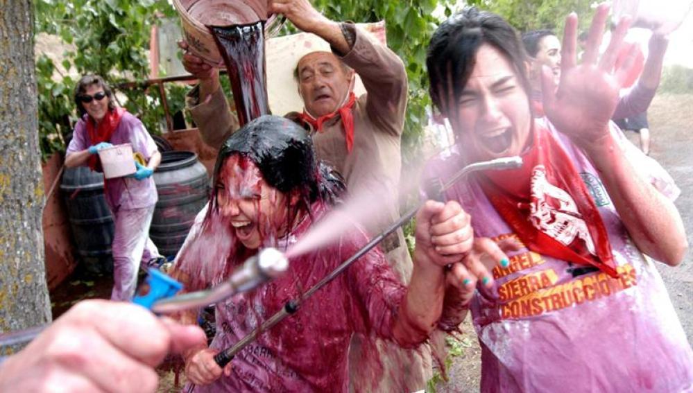 Participantes de la guerra del vino