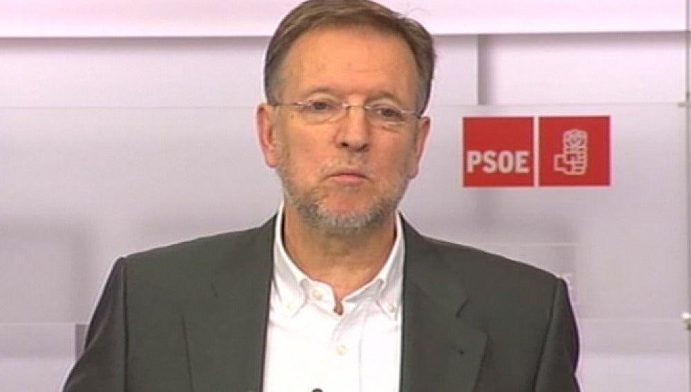 Marcelino Iglesias, tras la reunión del Comité Federal del PSOE