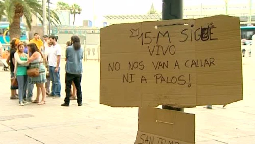 Altercados en San Telmo en el desalojo de los indignados
