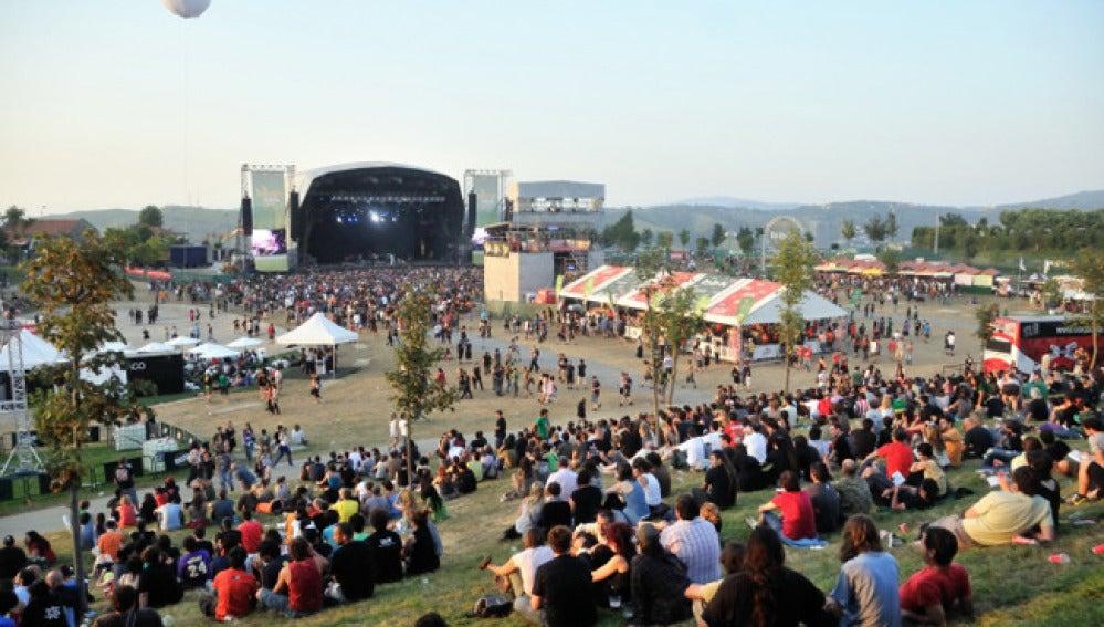 Imagen retrospectiva del festival musical de Bilbao.