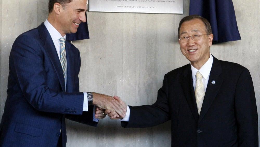 ONU Príncipe y Ban Ki-moon
